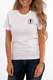 T-shirt STEDT logo women White_