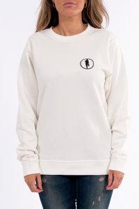 Sweater STEDT logo women Off-white